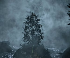 eerie, forest, and alan wake image