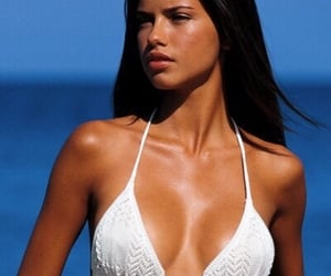 Adriana Lima, beach, and young image