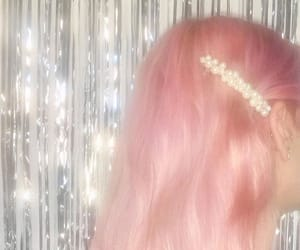 aesthetic, glitter, and pink image