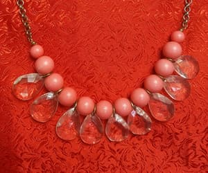 beaded, necklace, and peach image