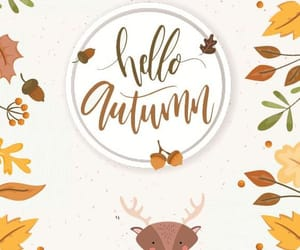 autumn, hello, and welcome image