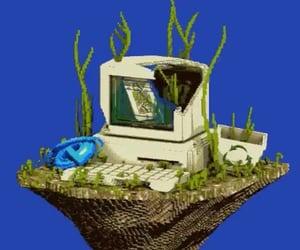 computer, vaporwave, and windows image