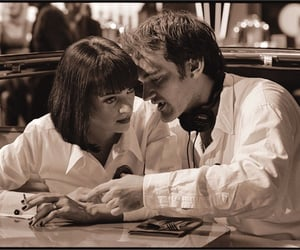 pulp fiction, uma thurman, and quentin tarantino image