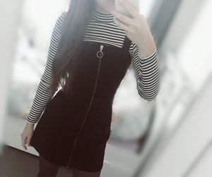blackandwhite, dress, and blackdress image