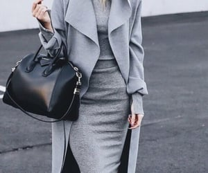 fashion, style, and grey image