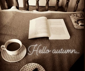 autumn, book, and hello image