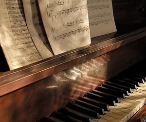 piano, music, and beautiful image