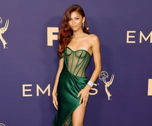 zendaya, emmys, and dress image