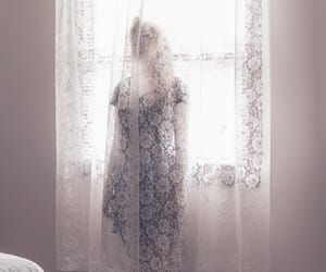 dark, lace, and model image