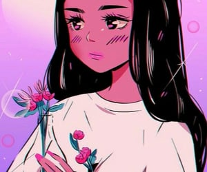 beautiful, digital, and girl image