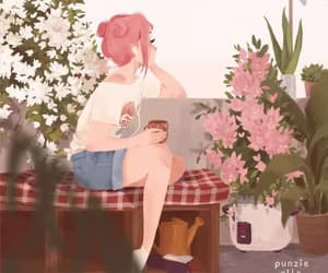 art, girl, and hipster image