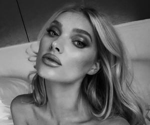 beauty, black and white, and makeup image