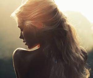 girl, sun, and beauty image