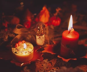 candles, fall, and family image
