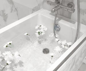 white, aesthetic, and bath image