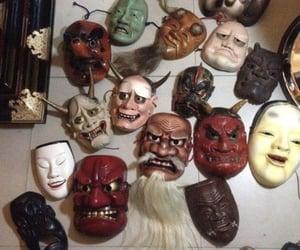 grunge, mask, and theme image