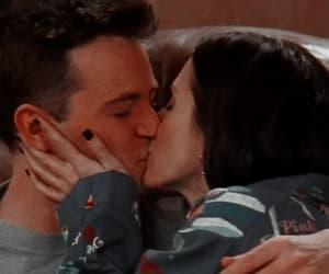 chandler bing, monica geller, and wallpapers image
