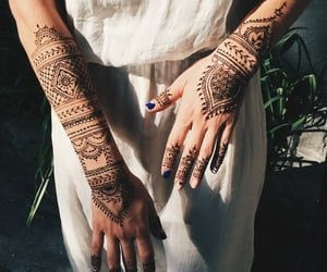hands, hipster, and henna image