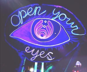 eyes, neon, and light image