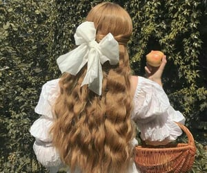 hair, vintage, and white image