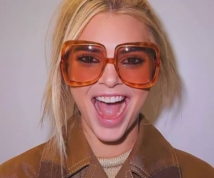 backstage, model, and sunglasses image