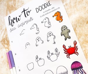 animals, bullet, and doodles image