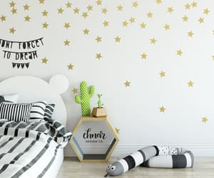 kawaii wall decals, new mom gift ideas, and starry night decor image