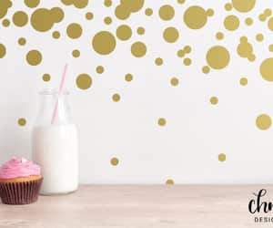 etsy, gold vinyl decals, and diy nursery decor image
