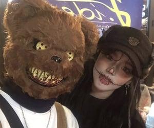 Halloween, halloween makeup, and ulzzang girl image