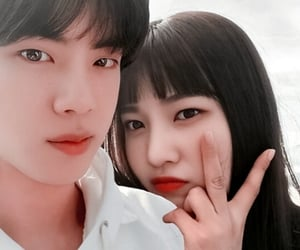 couple, bangtanvelvet, and jin image