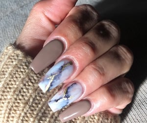 acrylics, marble, and nail inspo image