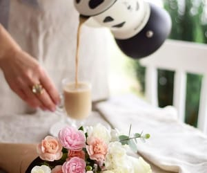 coffee, cute, and flowers image