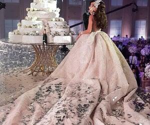bride, wedding, and weddingdress image