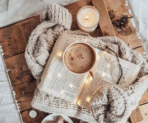 winter, book, and candle image