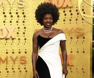 dress, viola davis, and emmy awards 2019 image
