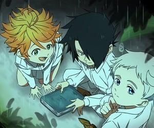 anime girl, emma, and ray image