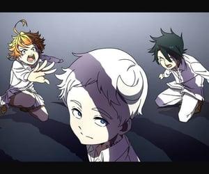 anime girl, emma, and norman image