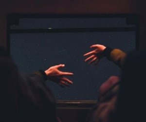 hands, photography, and stars image