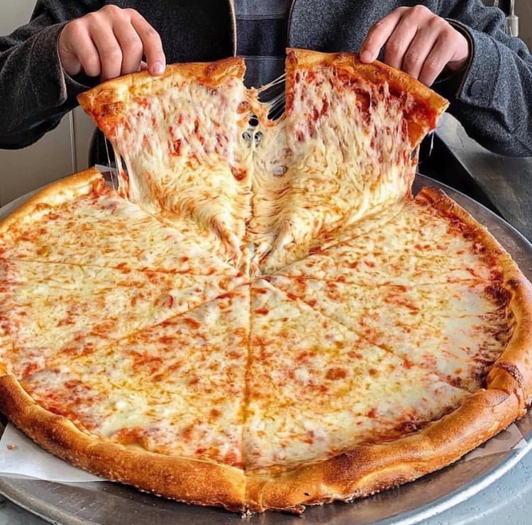 article, dinner, and pizza image