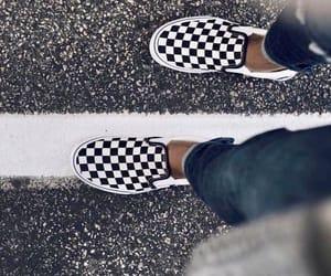 black, checkerboard, and fashion image