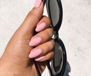 beauty, chic, and pink nails image