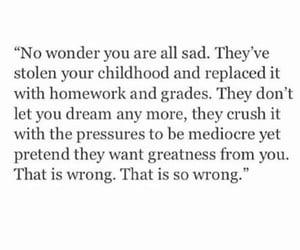 quotes, school, and sad image