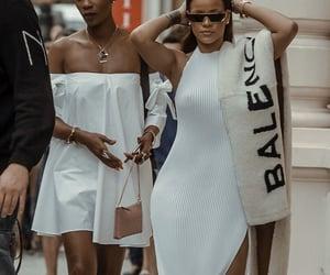 rihanna, Balenciaga, and white image