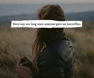 butterfly, girl, and quotes image