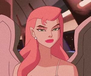 cartoon and pink image