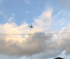 airplane, autoral, and nature image
