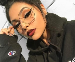 makeup, baddies, and sunglasses image