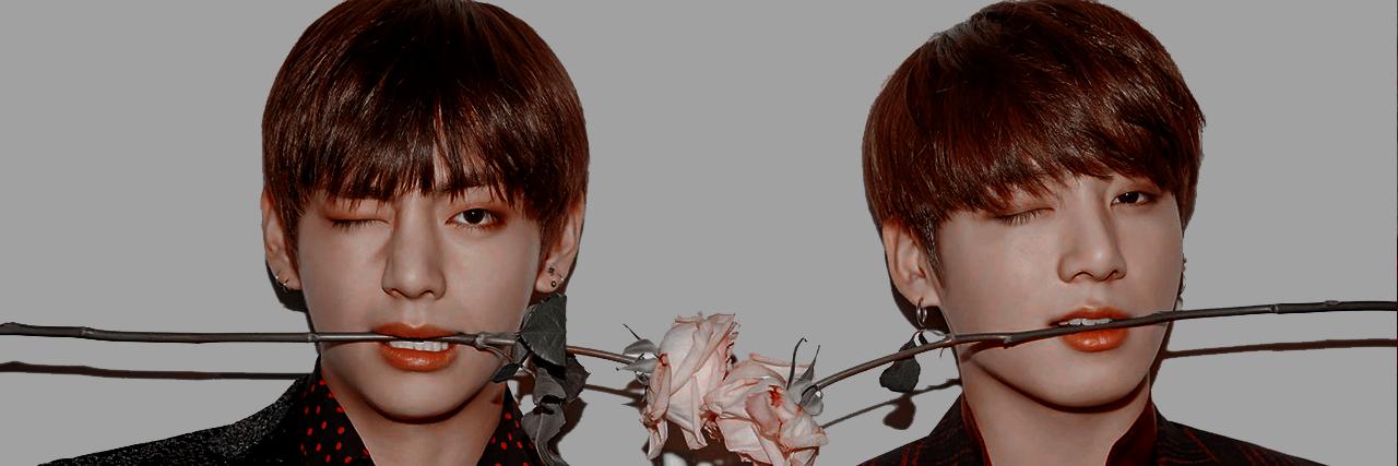 aesthetic, taehyung, and kookv image