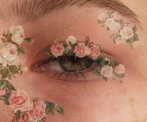 flowers, makeup, and aesthetic image
