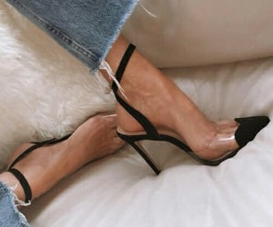 chic, heels, and jeans image